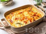Рецепта Картофен огретен със сирене с бешамелов сос
